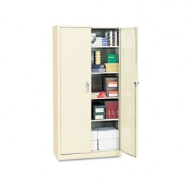 "Assembled 72"" High Storage Cabinet, w/ Adjustable Shelves, 36w x 18d, Putty"