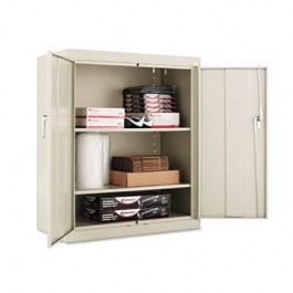 "Assembled 42"" High Storage Cabinet, w/ Adjustable Shelves, 36w x 18d, Putty"