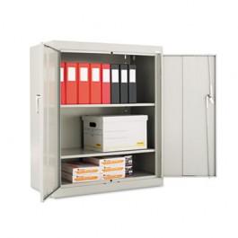 "Assembled 42"" High Storage Cabinet, w/ Adjustable Shelves, 36w x 18d, Light Gray"