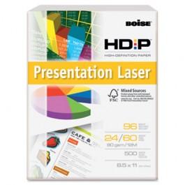 HD:P Presentation Laser Paper, 96 Brightness, 24lb, 8-1/2x11, White, 500/Ream