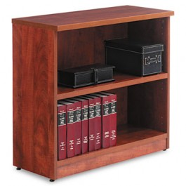 Valencia Series Bookcase, 2 Shelves, 31-3/4w x 12-1/2d x 29-1/2h, Medium Cherry