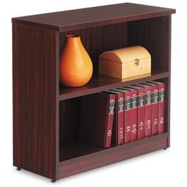 Valencia Series Bookcase, 2 Shelves, 31-3/4w x 12-1/2d x 29-1/2h, Mahogany