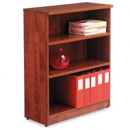 Valencia Series Bookcase, 3 Shelves, 31-3/4w x 12-1/2d x 39-3/8h, Medium Cherry