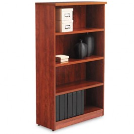 Valencia Series Bookcase, 4 Shelves, 31-3/4w x 12-1/2d x 55h, Medium Cherry
