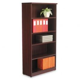 Valencia Series Bookcase, 5 Shelves, 31-3/4w x 12-1/2d x 65h, Mahogany