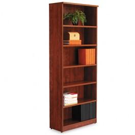 Valencia Series Bookcase, 6 Shelves, 31-3/4w x 12-1/2d x 80-3/8h, Medium Cherry