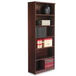 Valencia Series Bookcase, 6 Shelves, 31-3/4w x 12-1/2d x 80-3/8h, Mahogany