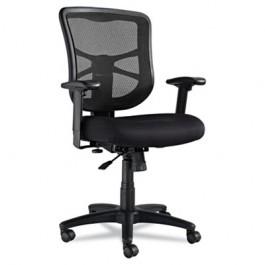 Elusion Series Mesh Mid-Back Swivel/Tilt Chair, Black