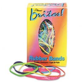 Brites Pic Pac Rubber Bands, Blue/Orange/Yellow/Lime/Purple/Pink, 1-1/2-oz Box