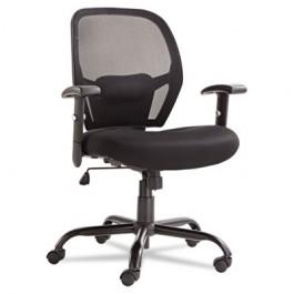 Merix450 Series Mesh Big/Tall Mid-Back Swivel/Tilt Chair, Black