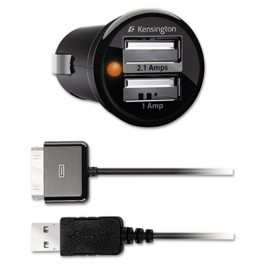 PowerBolt Duo Car Charger With 30-Pin/USB for Apple Devices
