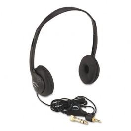 Personal Multimedia Stereo Headphones w/Volume Control, Black