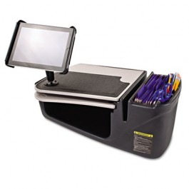 GripMaster 03 Auto Desk with iPad Tablet Mount, Supply Organizer, Gray