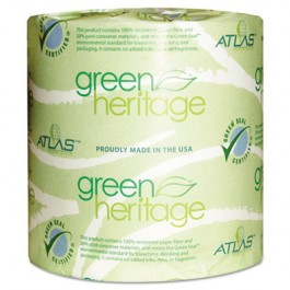 Green Heritage Bathroom Tissue, 1-Ply Sheets, White