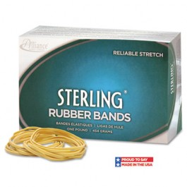 Sterling Ergonomically Correct Rubber Bands, #33, 3-1/2 x 1/8, 850 Bands/1lb Box