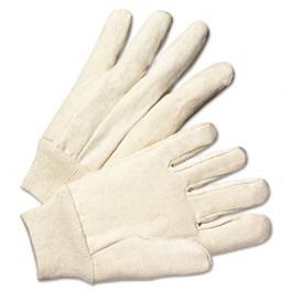 Light-Duty Canvas Gloves, White