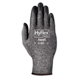 HyFlex Foam Gloves, Dark Gray/Black, Size 10