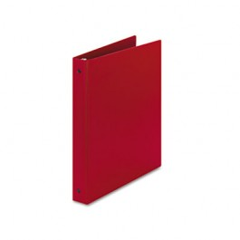 "Economy Round Ring Reference Binder, 1"" Capacity, Red"
