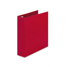 "Economy Round Ring Reference Binder, 2"" Capacity, Red"