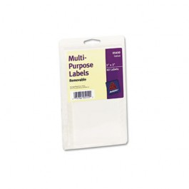 Print or Write Removable Multi-Use Labels, 3 x 5, White, 40/Pack