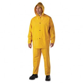 Rainsuit, PVC/Polyester, Yellow, Size X-Large