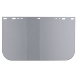 "Face Shield Visor, 15 1/2"" x 9"", Clear, Unbound, Plastic"