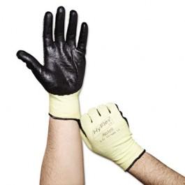 HyFlex Medium-Duty Assembly Gloves, Gray/Green, Size 10