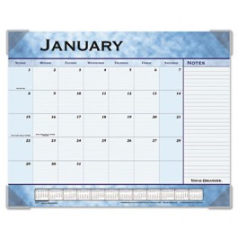 "Recycled Slate Blue Desk Pad, 22"" x 17"""