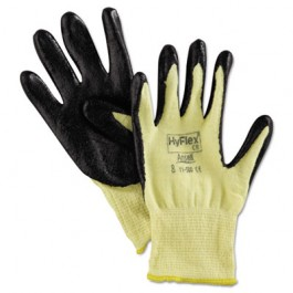 HyFlex 500 Light-Duty Gloves, Size 8, Kevlar/Nitrile, Yellow/Black