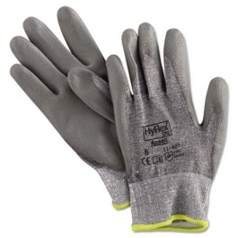 HyFlex 627 Light-Duty Gloves, Size 8, Dyneema/Lycra/Polyurethane, Gray