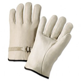 4000 Series Leather Driver Gloves, Natural, Large
