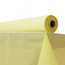 """Plastic Table Cover, 40"""" x 300 ft Roll, Yellow"""