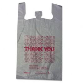 Thank You High-Density Shopping Bags, 18w x 8d x 30h, White