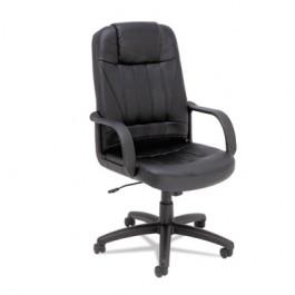 Sparis Executive High-Back Swivel/Tilt Chair, Leather, Black