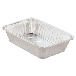 Aluminum Oblong Container with Lid, 36 oz, 8-7/16 x 5x 1-13/16
