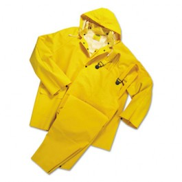 Rainsuit, PVC/Polyester, Yellow, Medium