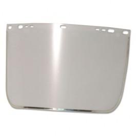 "Face Shield Visor, 15 1/2"" x 9"", Clear, Bound, Plastic/Aluminum"