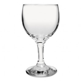 Glass Stemware, Wine, 6.5oz, Clear