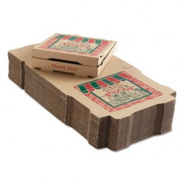 Corrugated Pizza Boxes, 12w x 12d x 1 3/4h, Kraft