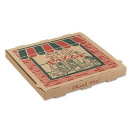 Corrugated Pizza Boxes, 16w x 16d x 1 3/4h, Kraft