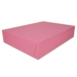 Non-Window Bakery Boxes, 20 x14 x 4, Pink