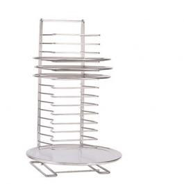 "Pizza Tray Rack, Chrome-Plated Steel, 15 Shelf, 6 lb/Shelf, 27""H"