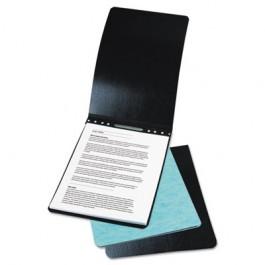 "Presstex Report Cover, Prong Clip, Letter, 3"" Capacity, Black"