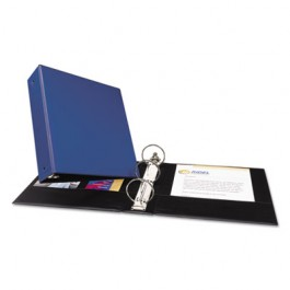"Economy Round Ring Reference Binder, 3"" Capacity, Blue"