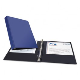"Economy Round Ring Reference Binder, 1"" Capacity, Blue"