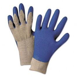 Latex Coated Gloves 6030, Gray/Blue, Medium