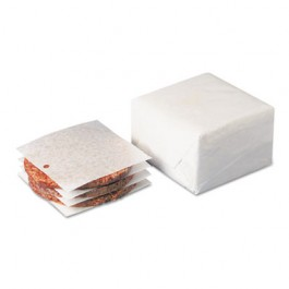 Dry Wax Laminated Patty Paper With Hole, White, 5 x 5