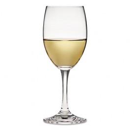 Glass Stemware, Florentine White Wine Glass, 8 1/2 oz, Clear