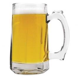 Tankard Beer Mug, Glass, 12 oz, Clear