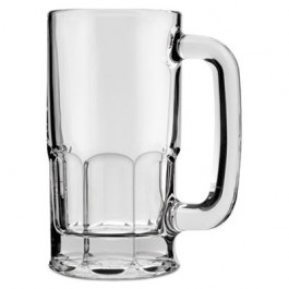 Classic Beer Mug, Glass, 12 oz, Clear